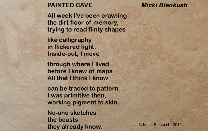 "Painted Cave: a ""Light"" poem by Micki Blenkush"