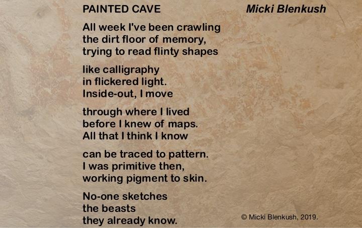 "Painted Cave: a ""Light"" poem by Micki Blenkush"